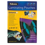 Box of 100 sleeves for lamination Fellowes 2 x 80 micron A4