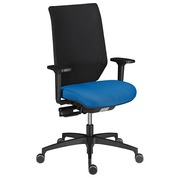 Chair Shapy back in net structure - blue