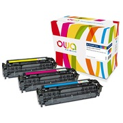 Pack 3 toners Armor Owa compatibles HP 305A cyan, magenta, jaune