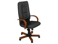 Armchair Bruneau President - wood - back 72 cm