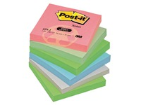 Notes repositionnables couleurs recyclées Post-it 76 x 76 mm - bloc de 100 feuilles