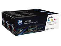 Pack de 3 toner HP 305A couleurs