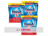 Pack 2 + 1 tablettes Finish Powerball lave-vaisselle - Pack de 85 tablettes