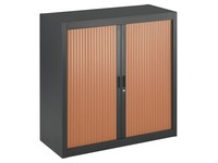 Dismountable tambour cabinet, 100 x 100 cm, anthracite body