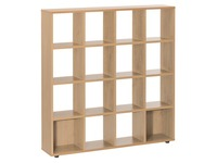 Bookcase Intuitiv light oak 16 compartments