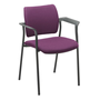 Chair Yota with armrest completely in tissue black legs